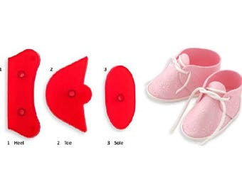 Baby Shoe Cutter Set (3 Cutters) -- Create Adorable Fondant Baby Booties  Like These Shown d4e043c96ca0