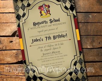 Harry potter invitation etsy harry potter birthday invitation filmwisefo