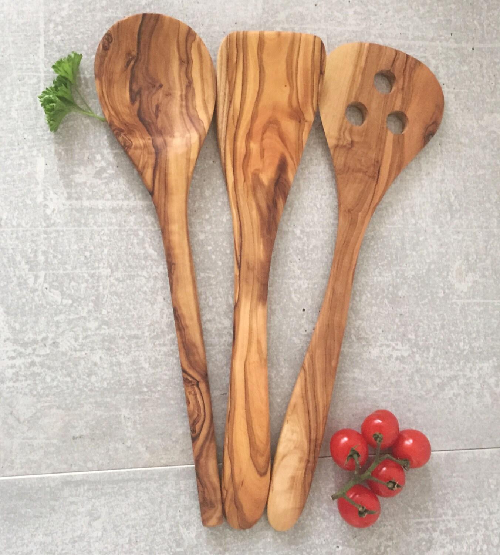 Spatula Olive Wood Pancake Turner Flipper 12/'/' handcarved