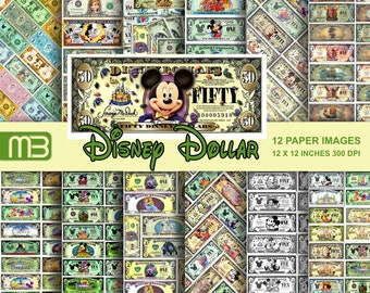 image regarding Disney Dollars Printable known as Disney money Etsy