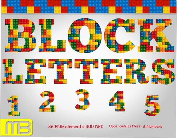 Lego Alphabet Font Letters Gift Lego Block Icon Symbols Etsy