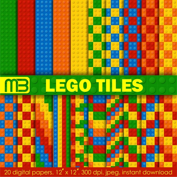 Lego Character Digital Paper Clip Art For Home Printing Etsy