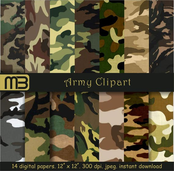 Army Military Camo Paper Camouflage Scrapbookgift For Etsy