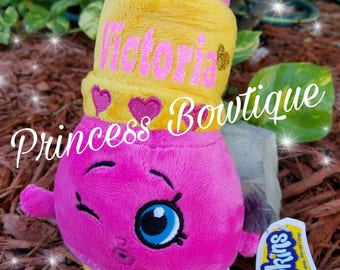 Lippy lips plush, personalized shopkins plush, shopkins,  shopkins gifts, shopkins birthday gifts,  personalized gifts, shopkins party