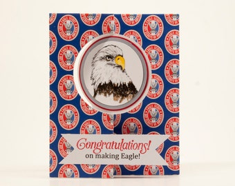 picture regarding Eagle Scout Congratulations Card Printable identified as Eagle scout card Etsy