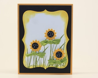 Sunflower Blank Card Any Occasion Greeting Card