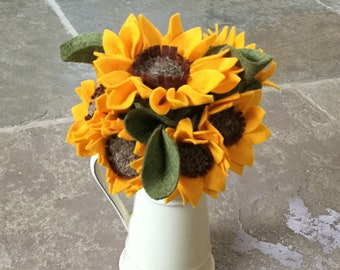 Sunflowers, felt sunflowers, artificial sunflowers, felt flowers, flowers gift