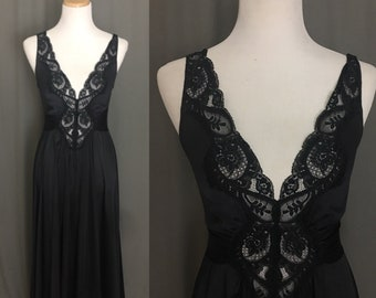 Black Floor Length Nightgown