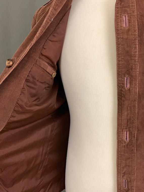 1970 ' s veste en velours côtelé léger JCPenny 42 homme marron taille 42 JCPenny L 36W d8bc98