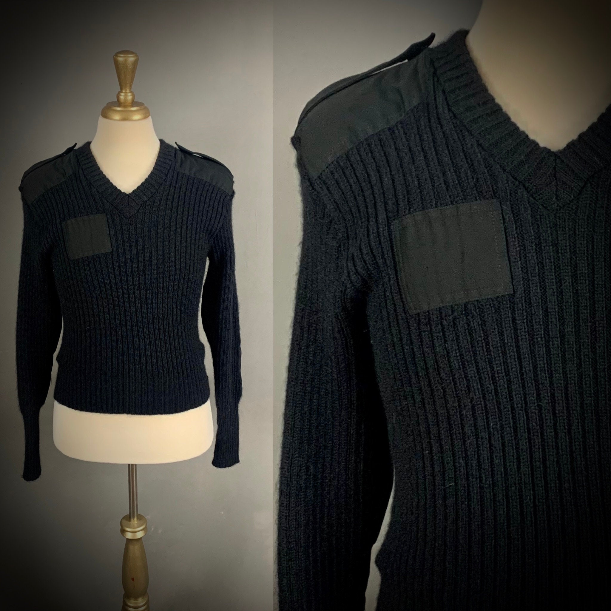 80s Sweatshirts, Sweaters, Vests | Women Citadel Military Army Wool Sweater Size 40 Made in England $68.00 AT vintagedancer.com