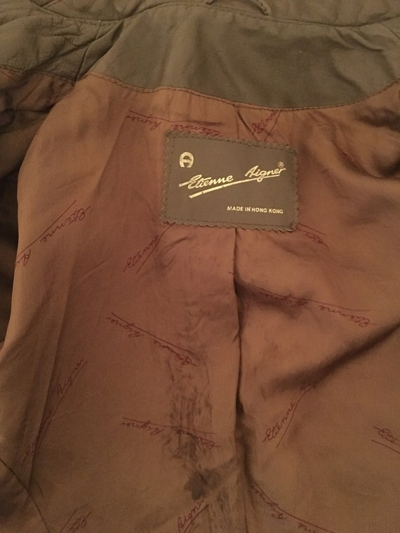 1970's Women's Taupe Brown Leather Fall Blazer Ja… - image 9