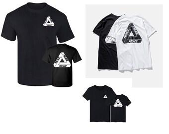 402227193db9 2017 Summer Print Palace Triangle Basic Logo Cotton Short Sleeve Men T-shirt  Kpop Skateboard Man Tees Couple Clothing
