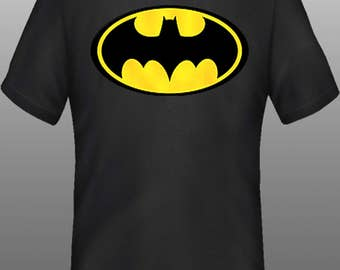 Men's Tshirt, Batman shirt, batman tshirt, natman clothing, batman top, kids batman shirt, youth tshirt, christmas gift, stocking stuffer