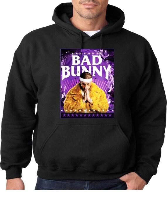 Sudadera Bad Bunny Logo Nombre Trap Hombre Mujer en venta en