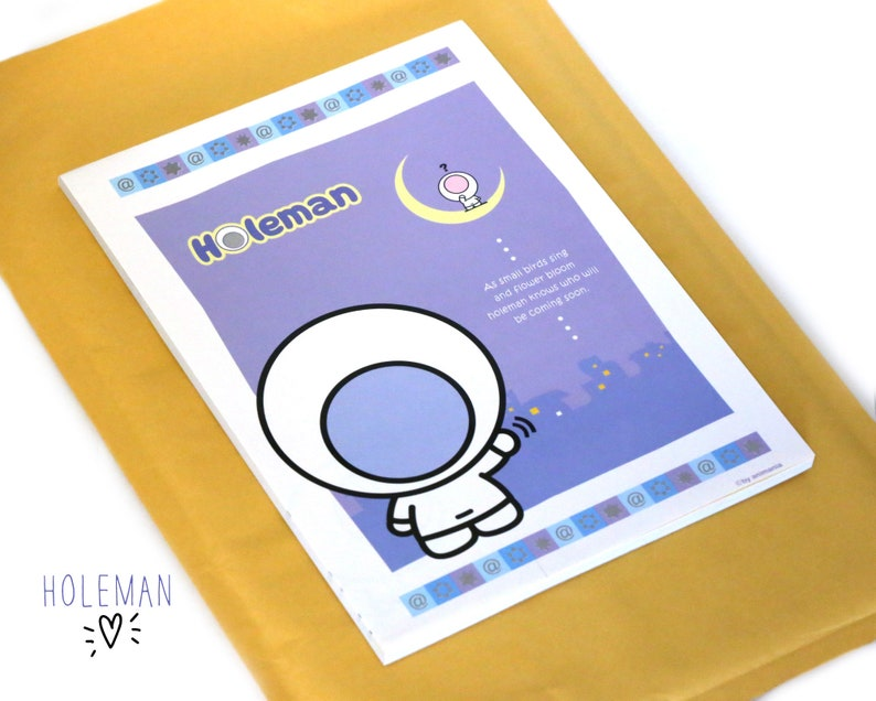 Holeman Animania Cute Stationery Ruled Notepad Note Writing Pad, Letters,  Snail Mail, Happy Mail, Journal, Handwritten Letter, Very Cute