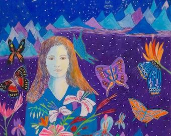 Butterfly Mariposa Woman