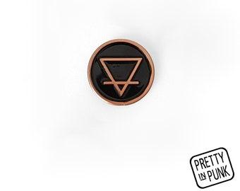 Alchemy Element Pin [EARTH] Enamel Pin / Soft Enamel Pin / Lapel Pin / Punk Pin / Pin Badge / Occult Pin