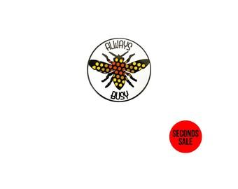 Always Busy Enamel Pin / Soft Enamel Pin / Lapel Pin / Punk Pin / Pin Badge / Seconds Enamel Pin
