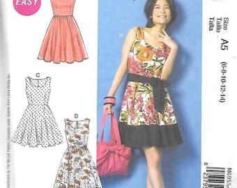 adba9a897a8d Misses Flared Knit Top Dress Sizes 6 Thru 14 New McCalls
