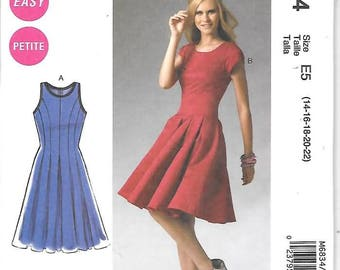 9248e4e1ed Misses Miss Petite Fitted Flare Dress