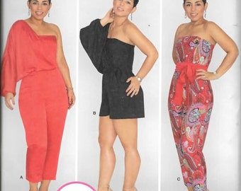 Simplicity Pattern 1115 Misses' Long or Short Jumpsuit from Mimi G Sizes 6 Thru 14