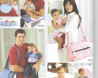His and Hers Diaper Bags, Accessories, One Size, New Simplicity Pattern 2924