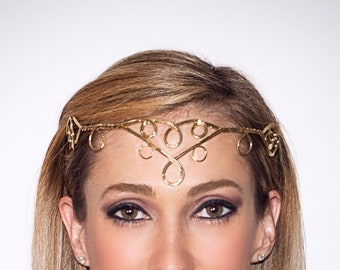 Gold, Hand Twisted Renaissance and Fairy Circlet