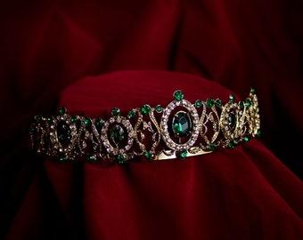 Emerald Renaissance Rhinestone Tiara
