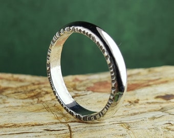 Silver ring 'Friendship', 0.2 Inch wide, handmade, mm size