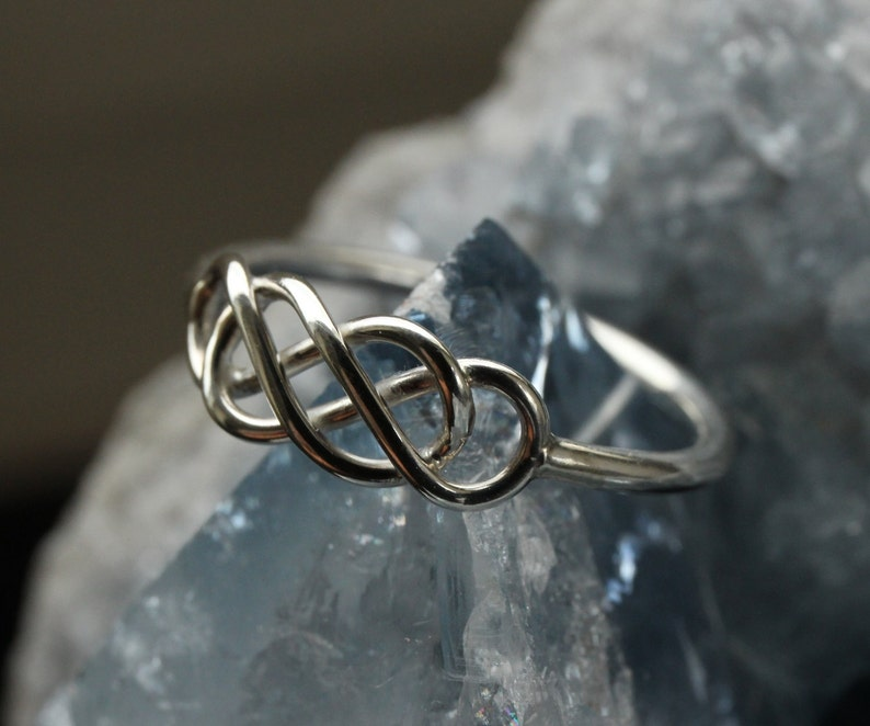 Silver Celtic Infinity Ring Type I image 0