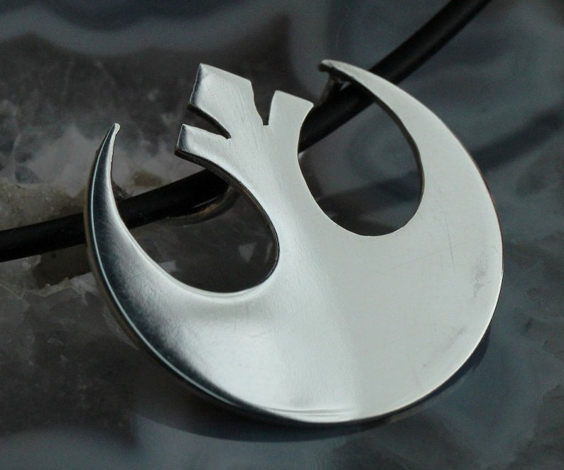 Silver Star Wars Rebel Alliance pendant handmade image 0