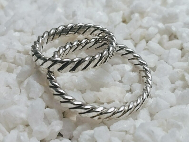 Celtic/ Viking ring silver handmade  mm size image 0