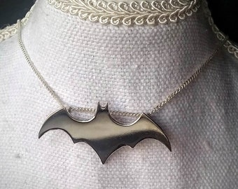 Sterling Silver Batman pendant, hand made