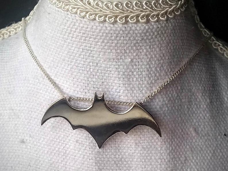 Sterling Silver Batman pendant hand made image 0