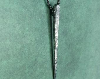 Dark Silver Viking pendant 'Isa', hand made