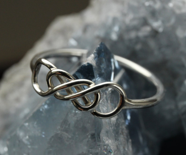 Silver Celtic Infinity ring Type II image 0