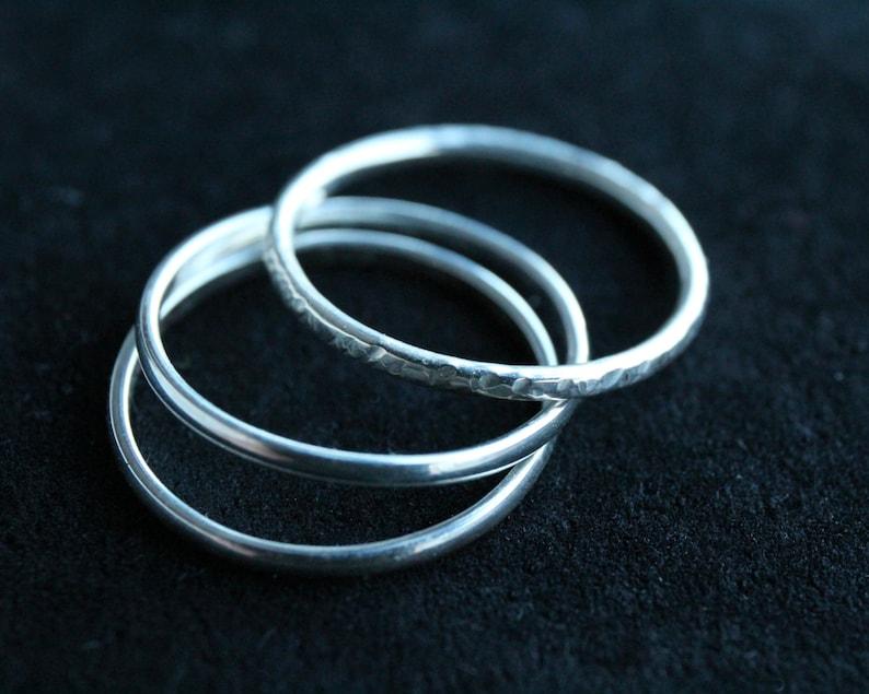 Silver stacking ring set image 0