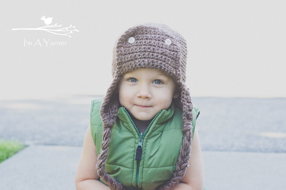 Brown Pilot Hat Dad Hat Father s Day Gift Baby Beanie  f354d5868d5