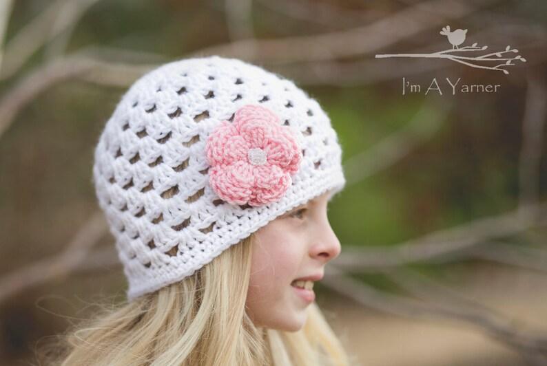 d6d6148cd24 White Crochet Hat Hat for Kids Toddler Winter Beanie