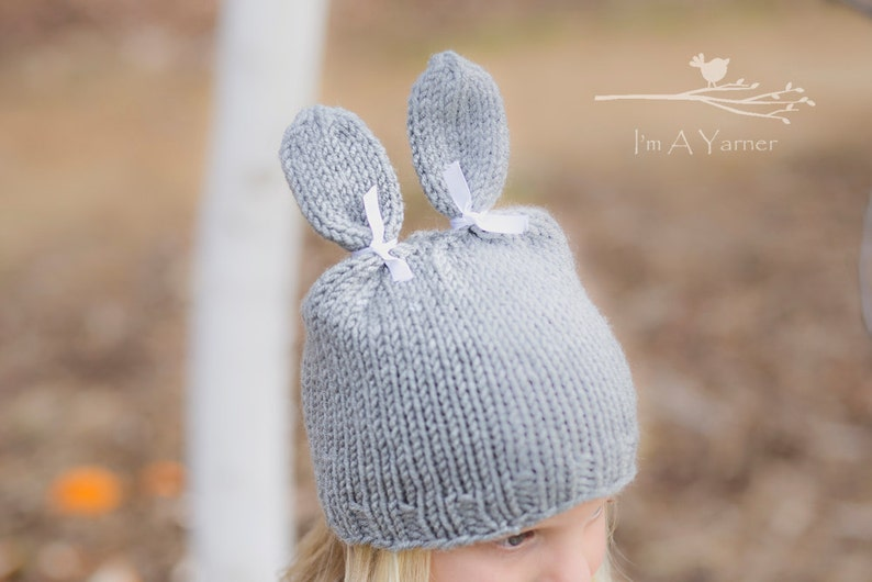 0d0b08aded1 Bunny Rabbit Hat Bunny Beanie Knit Hats for Kids Photo