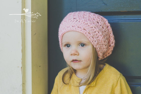 Pink Slouchy Hat Baby Slouchy Beanie Crochet Hat For Kids  d538958765