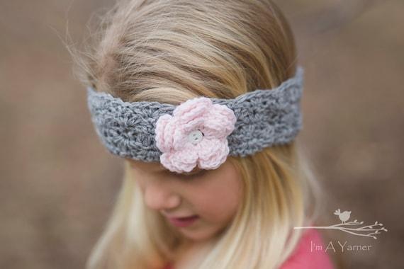Gray Baby Headband Little Girl Headbands Head Bands For Etsy