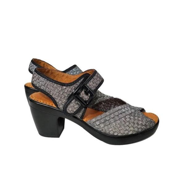 Womens Open Toe Shoes Velcro Fastener EU Size 40 -