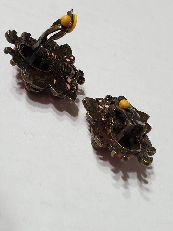 Joan Rivers Earrings and Brooch - Vintage Clip Ons - image 7