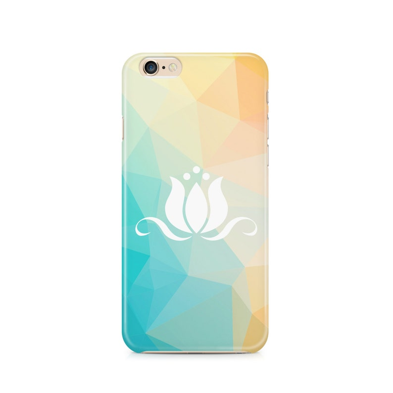 Lotus cell phone case, with Cool Geometric pattern, Triangle, Polygon,  Buddhism, Zen, Mediation, Samsung Galaxy, Note, 6, 6 plus, 5, 4 etc