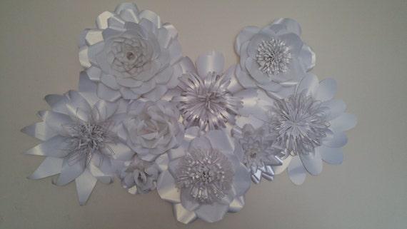 Orden de encargo de pared papel flor corazón flor blanco  179ad062ee9