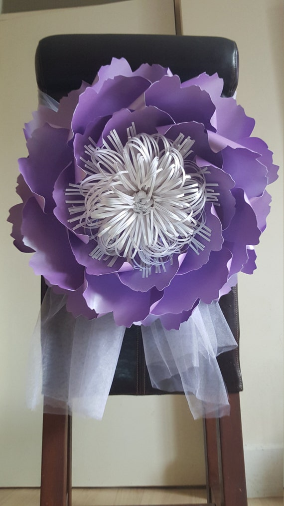 Giant Paper Flower Decoration-Purple-Table and Chair | Etsy