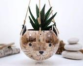 Cat style, ceramic pot, planter pot, ceramic pot, succulent planter, cat decor, cat gift, flowers pot, indoor planter, birthday gift