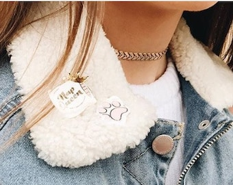 TORI   Chevron Choker Necklace- Statement Necklace- Gold Plated, Matte Yellow Gold, Rose Gold or Silver Plated- Fish Bone Necklace