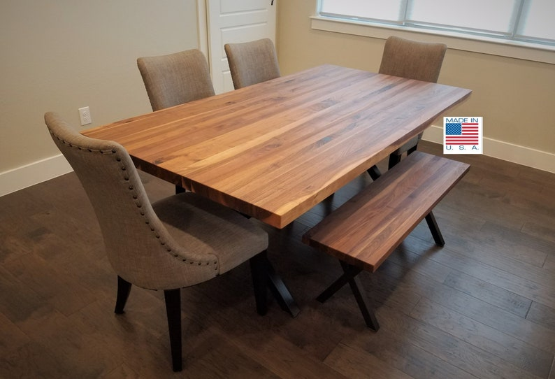 Varnish For Kitchen Table Top Stunning Walnut Butcher Block Table Top Finished Conference Table Counter Island Dining Pub Cafe Restaurant Kitchen Breakfast No Base 6836 3